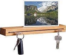 WOODS Schlüsselbrett Holz mit Ablage I Nut -
