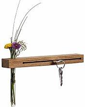 WOODS Schlüsselbrett mit Vase I Nut -