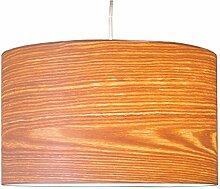 Woody echt Holz (Weide) Furnier Lampenschirm für