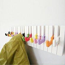 Woody Klavier Dekoration Eingang Kleiderständer Kleiderbügel Wand Hängend Bunt Garderoben Kleiderschrank Garderobe ( Farbe : #2 )