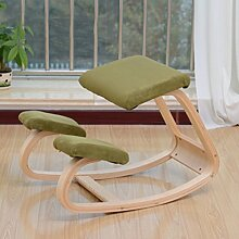 Woody Korrektur Sitzhaltung Stuhl / Computerstuhl Kniesessel / Spinal Stuhl Kniend Stuhl Lernen ( Farbe : Grün )