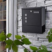 WOOHSE Design Briefkasten anthrazit mit