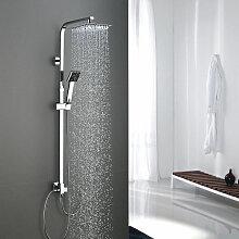 WOOHSE Duschsystem ohne Armatur, Duschkopf aus 304