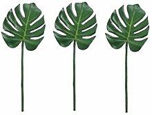 Woop 80cm Künstlich Raumdeko Palmenblätter Pflanze Blätter Girlande für Hochzeit Party Garten Wanddekoration,30 x 27 cm 3er Pack