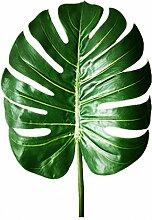 Woop 80cm Künstlich Raumdeko Palmenblätter Pflanze Blätter Girlande für Hochzeit Party Garten Wanddekoration,37 x 30 cm 3er Pack