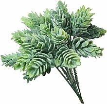 Woop Haus Deko 2 x Künstliche Kunststoff Ananas Gras Pflanze 6 Filialen Eukalyptus Gras für küche Garten Badezimmer und Fensterbank Ornamen