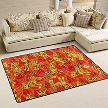 Woor Leopard Wohnzimmer Essbereich Teppiche 91,4x 61cm Bed Room Teppiche Büro Teppiche Moderner Boden Teppich Teppiche Home Decor, Polyester, multi, 3 x 2 Fee