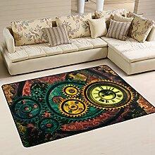 Woor Steampunk-Teppich - Für Wohnzimmer,