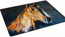 Woor Super Bequem Anti-Rutsch braun Pferd Bereich Teppiche/Boden Matte/Bezug Teppiche mit kleine Menge Speicher Schaumstoff für Wohnzimmer/Schlafzimmer/Esszimmer/Kinder/Home Dekorieren 3x 2Füße, multi, 6 x 4 Fee