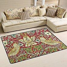Woor William Morris Wohnzimmer Essbereich Teppiche 91,4x 61cm Bed Room Teppiche Büro Teppiche Moderner Boden Teppich Teppiche Home Decor, Polyester, multi, 3 x 2 Fee