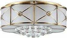 WOQU LED Deckenleuchte Kristall Lampe für Wohnzimmer Schlafzimmer Küche Durchmesser 49CM 36W Energieklasse A ++ , diameter 49cm