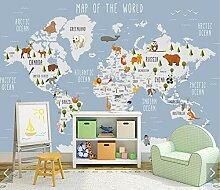 WORINA 3D Karton Tier Weltkarte Tapete Wandbild
