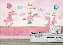 WORINA Kinder Schlafzimmer Einhorn Tapete Wandbild
