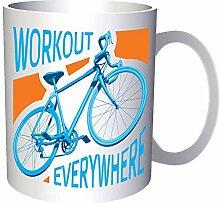 Workout Everywhere Blue Bike 33 cl Tasse ff391