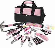 WORKPRO Werkzeugset Rosa Lady Reparaturset mit