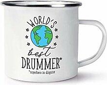 World's Best Drummer Emaille Becher