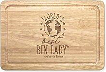 World's Best Mülleimer Damen Rechteckig Holz