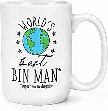 World's Best Mülleimer Mann 15oz Groß Becher
