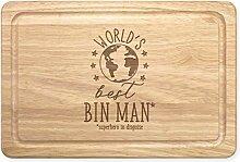 World's Best Mülleimer Mann Rechteckig Holz