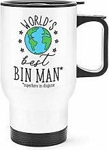 World's Best Mülleimer Mann Reise Becher