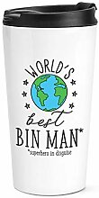 World's Best Mülleimer Mann Reise Becher Tasse