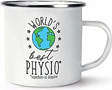 World's Best Physio Emaille Becher