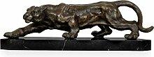 World Art TW60038 Bronze Skulptur Panter Bronze