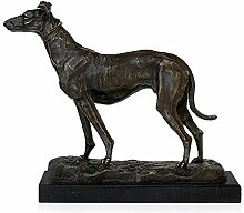 World Art TW60044 Bronze Skulptur Greyhound Bronze