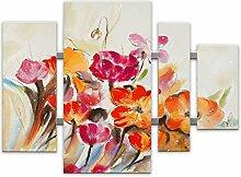 World Art TWAS432X1 Bunte Blumen Flowers modern