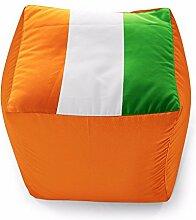 World Cup Edition 40Cm Flagge Cube Sitzsack - Elfenbeinküste Flagge