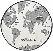 World Map Design Rund Bereich Teppiche, Baby
