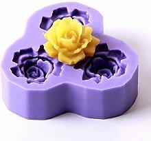 World Of Moulds Rose Fondant 3Cavity Form