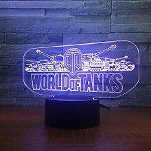 World Tank Car 3D Nachtlicht Electric Illusion 3D