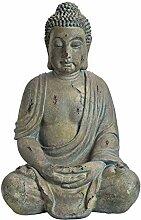 Worldconnection XXXL riesiger antiker Buddha 70cm