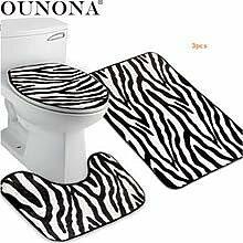 Worlddream OUNONA 3 stücke Zebra Flanell Deckel