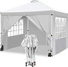 WORLDFYF Wasserdicht Faltpavillon 3x3 Pavillon