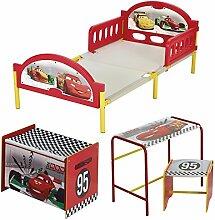 Worlds Apart 549CCC  Disney Cars Kinderzimmer-Set Bett, Spielzeugtruhe, Tisch und Stuhl inbegriffen