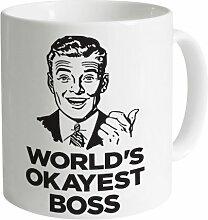 Worlds Okayest Boss Becher, Weiß