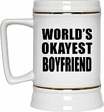 Worlds Okayest Boyfriend - Beer Stein Bierkrug