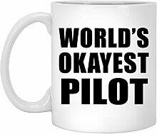 Worlds Okayest Pilot - 11 Oz Coffee Mug