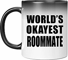 Worlds Okayest Roommate - 11 Oz Color Changing Mug