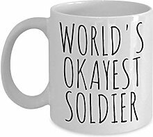Worlds Okayest Soldier Mug Funny Most Okay Okest