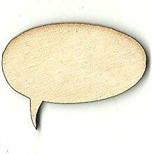 Wort Bubble Holz Form, Word Bubble Laser Cut Out,