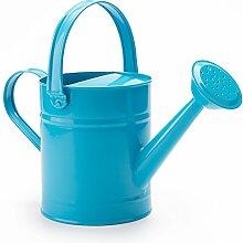 Worth 1,5letre Metall Bewässerung, Eimer, schöne blaue Kinder Garten Gießkanne mit Korrosionsschutz Pulverbeschichtung