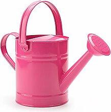 Worth 1,5letre Metall Bewässerung, Eimer, schönes Rosa Kinder Garten Gießkanne mit Korrosionsschutz Pulverbeschichtung