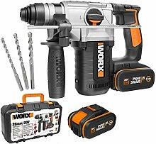 Worx WX392 Hammer mit 4 Funktionen, 2,2 J 20 V, 2