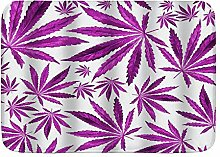WOTAKA Badematte Teppich,Lila Violettes Cannabis