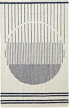 Woud - Raining Circle Rug, 170 x 240 cm, navy