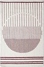 Woud - Raining Circle Rug, 90 x 140 cm, bordeauxrot