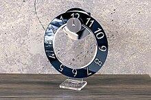 WoW Clock Design Tischuhr Smoking Black